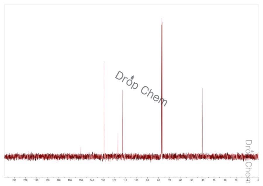 N,N-ジメチルアニリンの13CNMRスペクトル