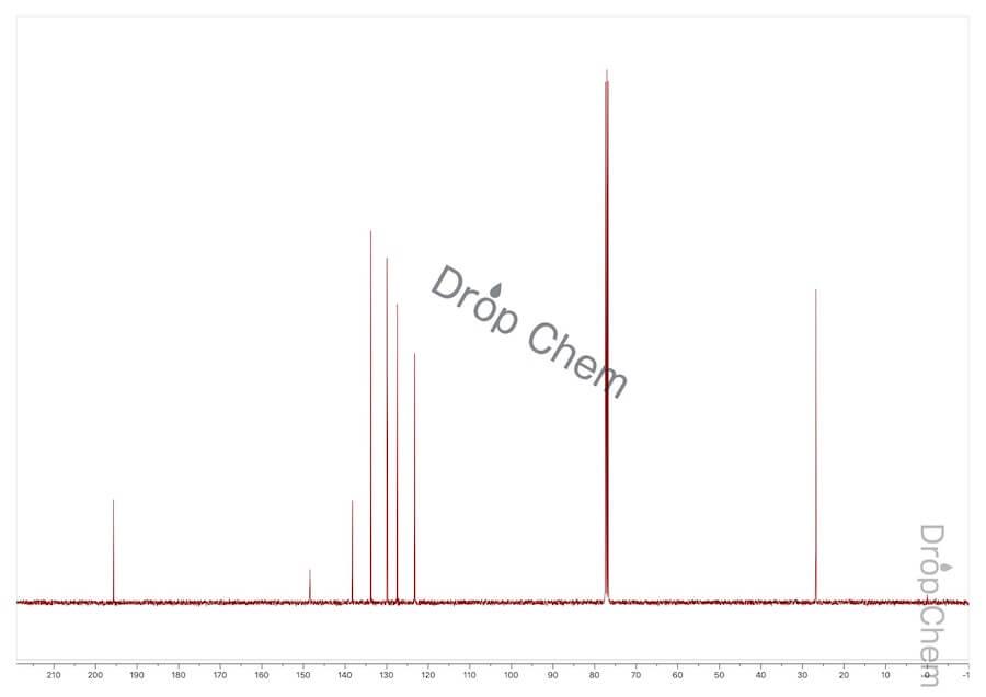 3'-ニトロアセトフェノンの13CNMRスペクトル
