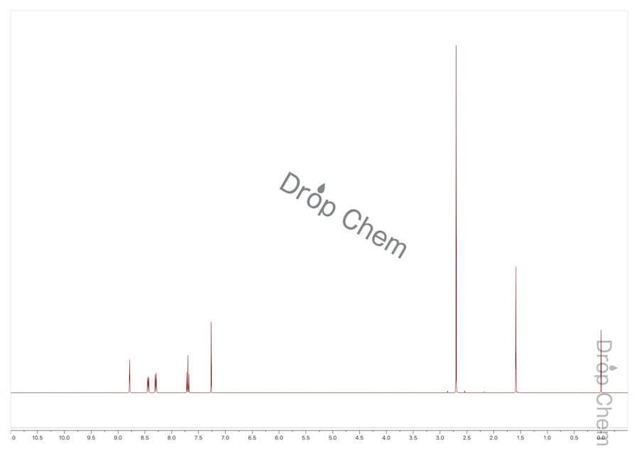 3'-ニトロアセトフェノンの1HNMRスペクトル