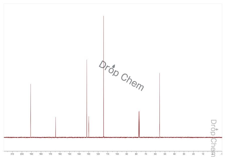 p-アニスアルデヒドの13CNMRスペクトル