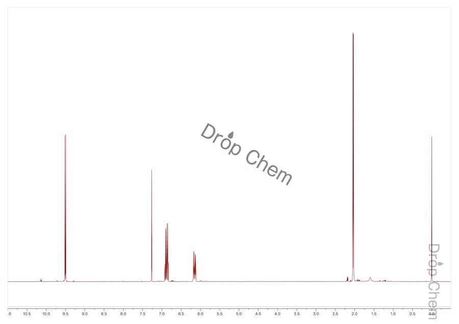クロトンアルデヒドの1HNMRスペクトル