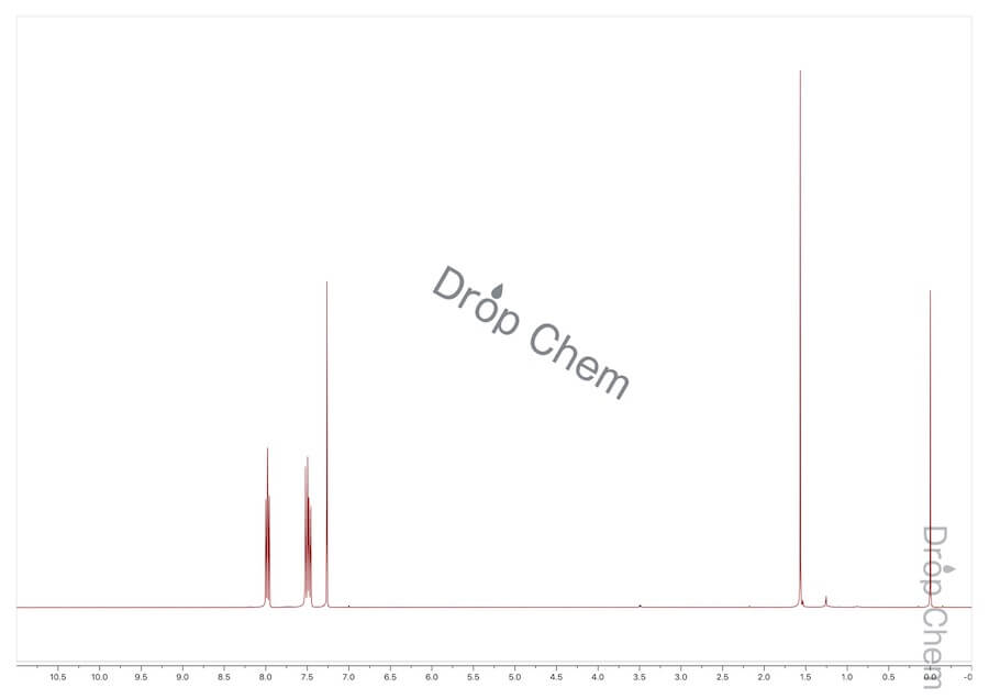 4-ブロモ-2-フルオロ-1-ニトロベンゼンの1HNMRスペクトル