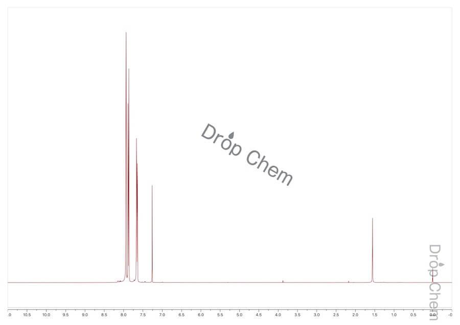 1-ブロモ-2,4-ビス(トリフルオロメチル)ベンゼンの1HNMRスペクトル