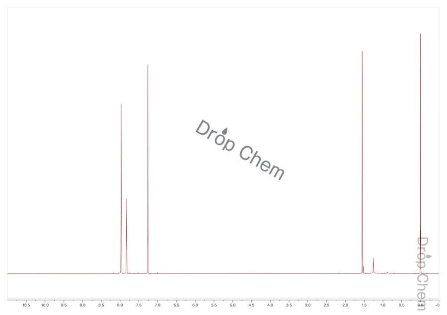 1-ブロモ-3,5-ビス(トリフルオロメチル)ベンゼンの1HNMRスペクトル