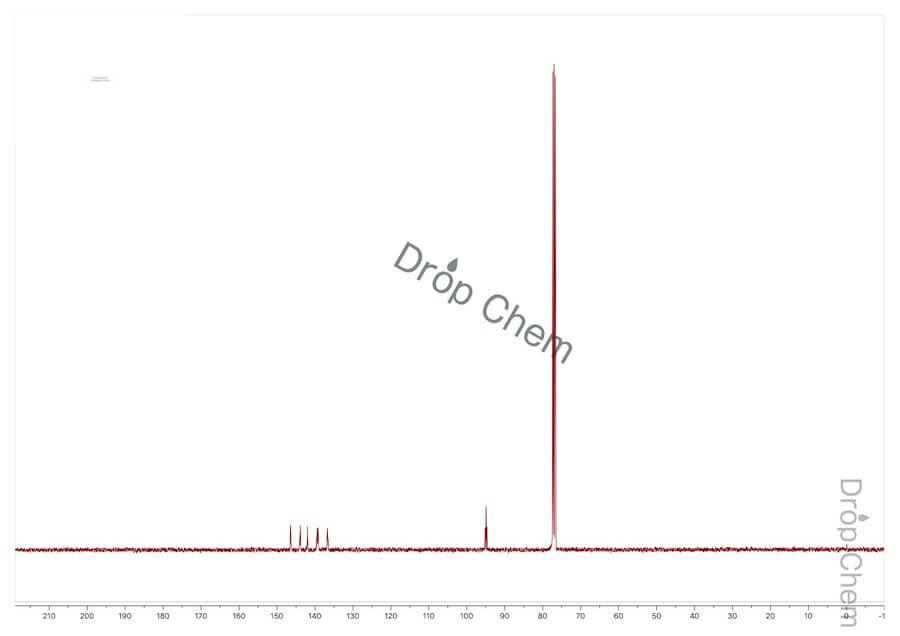 ブロモペンタフルオロベンゼンの13CNMRスペクトル