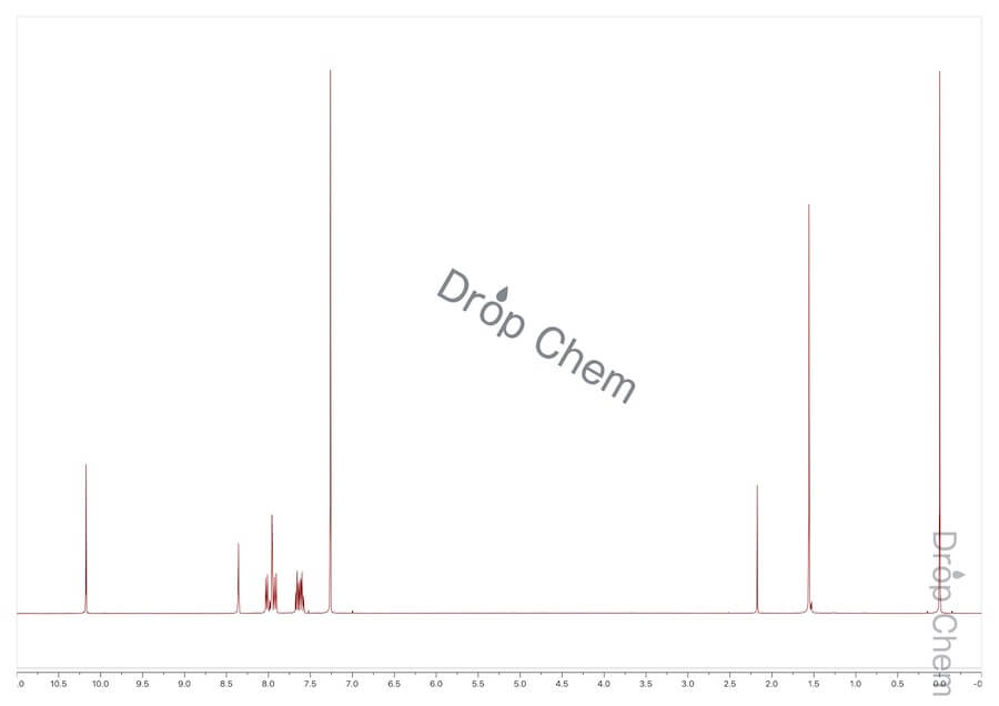 2-ナフトアルデヒドの1HNMRスペクトル