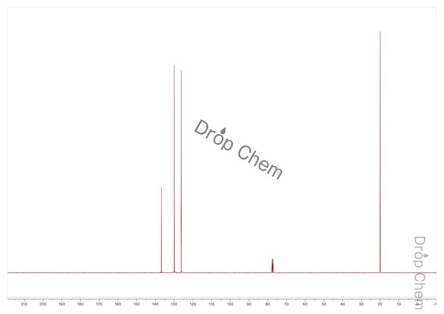 o-キシレンの13CNMRスペクトル