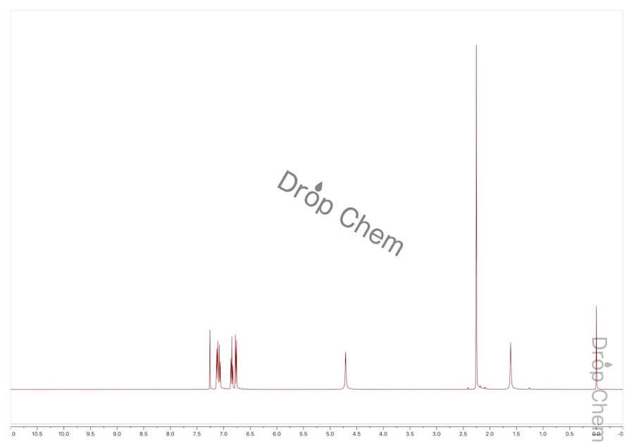 o-クレゾールの1HNMRスペクトル
