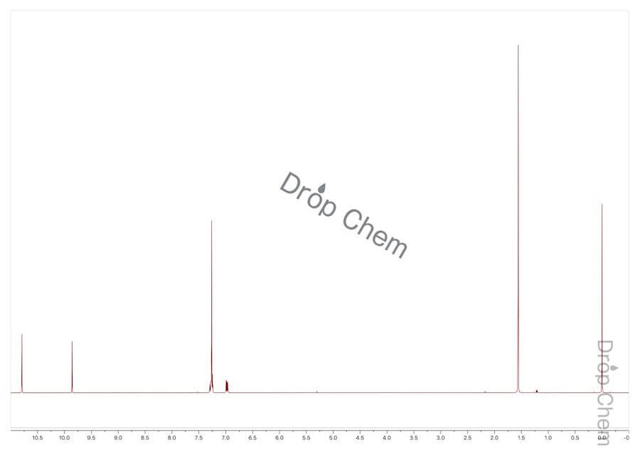 5-フルオロサリチルアルデヒドの1HNMRスペクトル