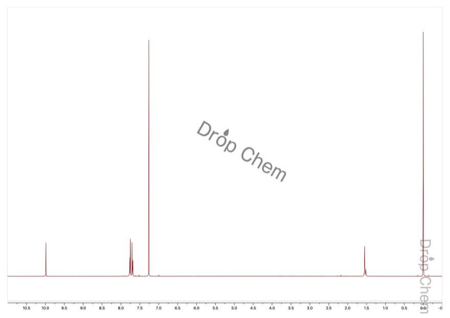 4-ブロモベンズアルデヒドの1HNMRスペクトル