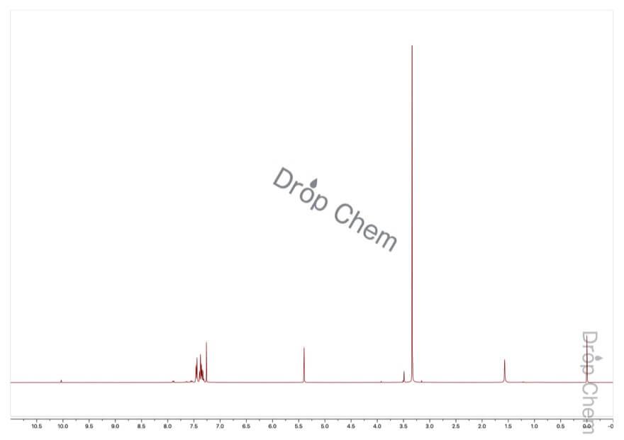 ベンズアルデヒドジメチルアセタールの1HNMRスペクトル