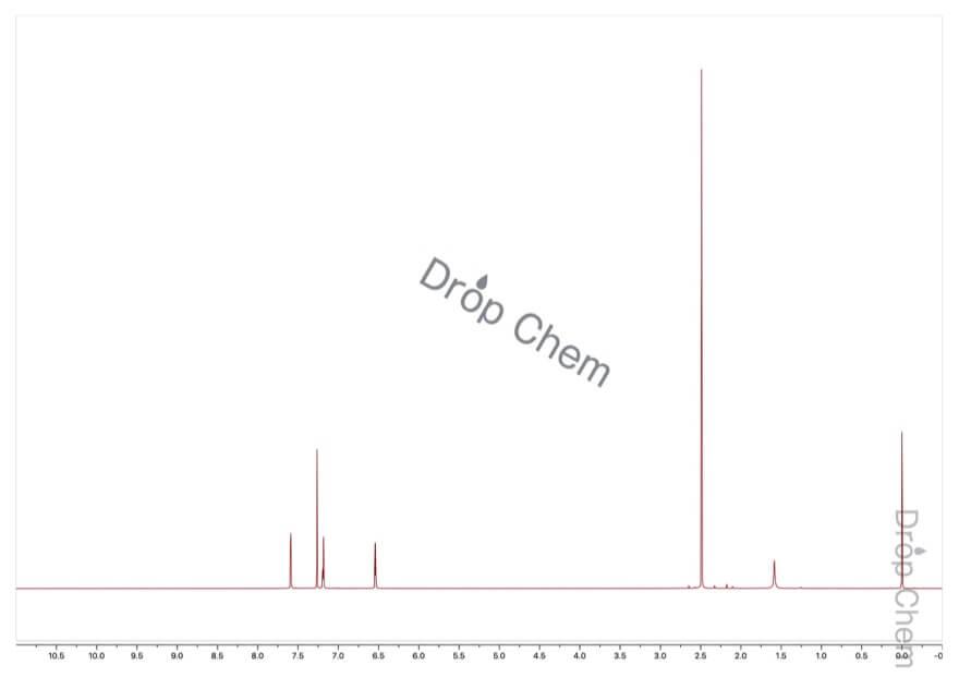 2-アセチルフランの1HNMRスペクトル