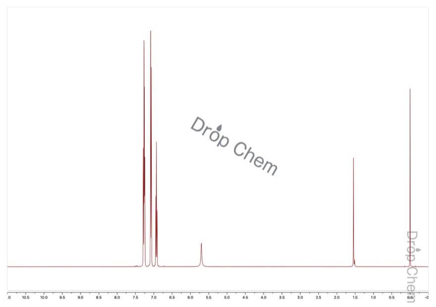 ジフェニルアミンの1HNMRスペクトル