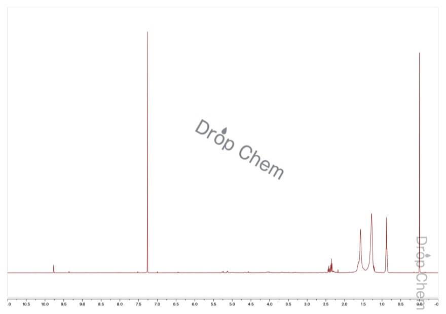 n-オクタナールの1HNMRスペクトル