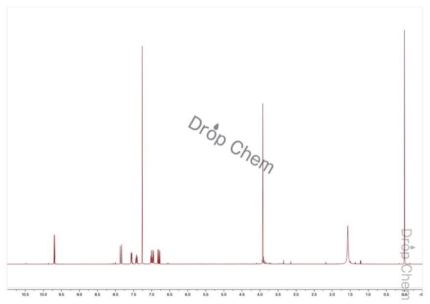 2-メトキシシンナムアルデヒドの1HNMRスペクトル