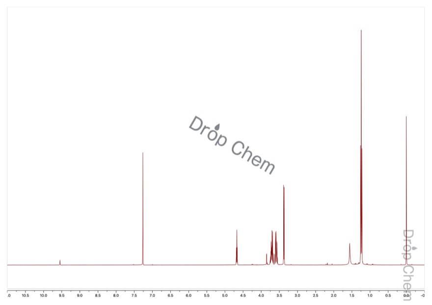 ブロモアセトアルデヒドジエチルアセタールの1HNMRスペクトル
