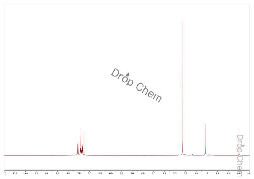 2'-クロロアセトフェノンの1HNMRスペクトル
