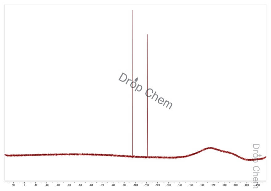 2,4-ジフルオロニトロベンゼンの19FNMRスペクトル