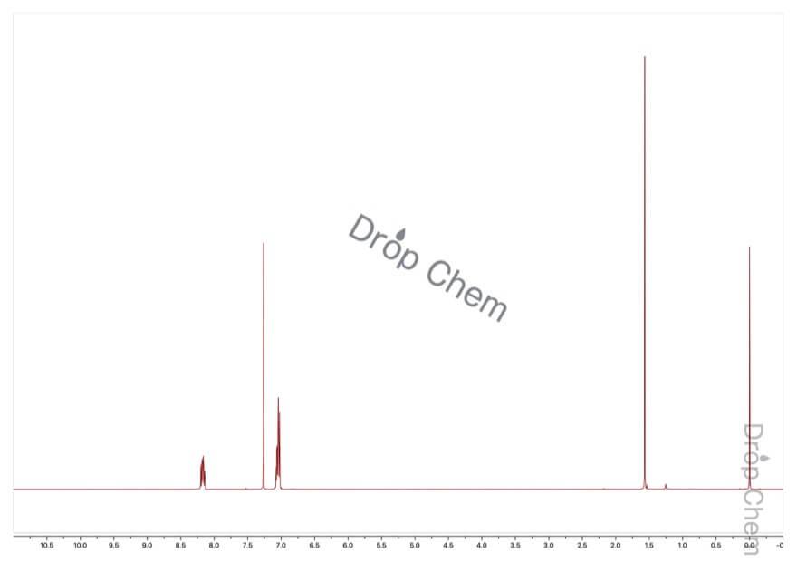 2,4-ジフルオロニトロベンゼンの1HNMRスペクトル