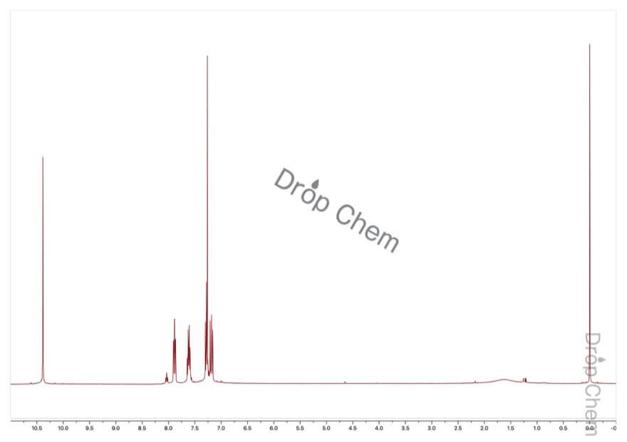2-フルオロベンズアルデヒドの1HNMRスペクトル