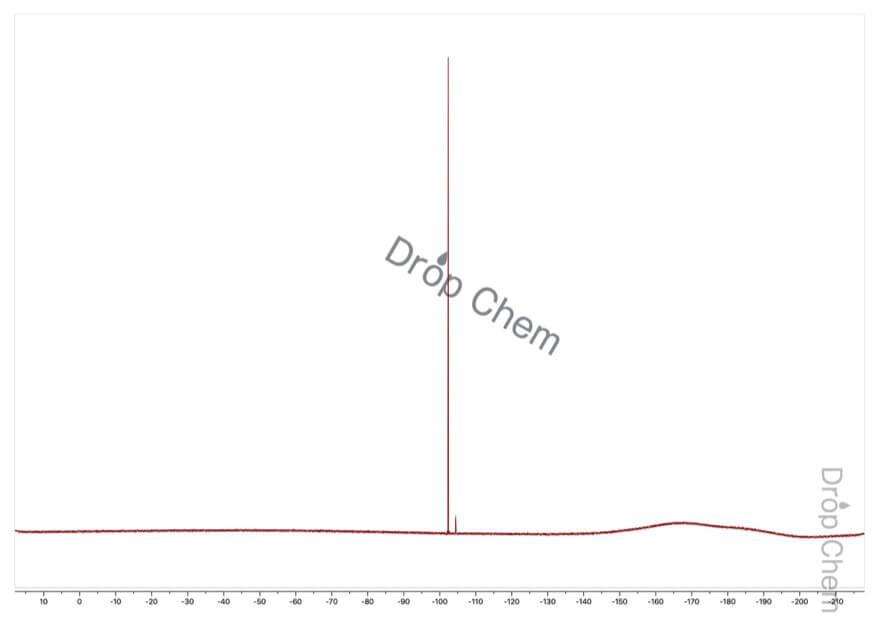 4-フルオロベンズアルデヒドの19FNMRスペクトル