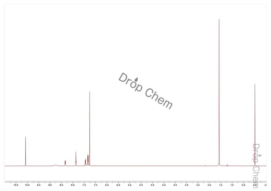 インドール-3-カルボキシアルデヒドの1HNMRスペクトル