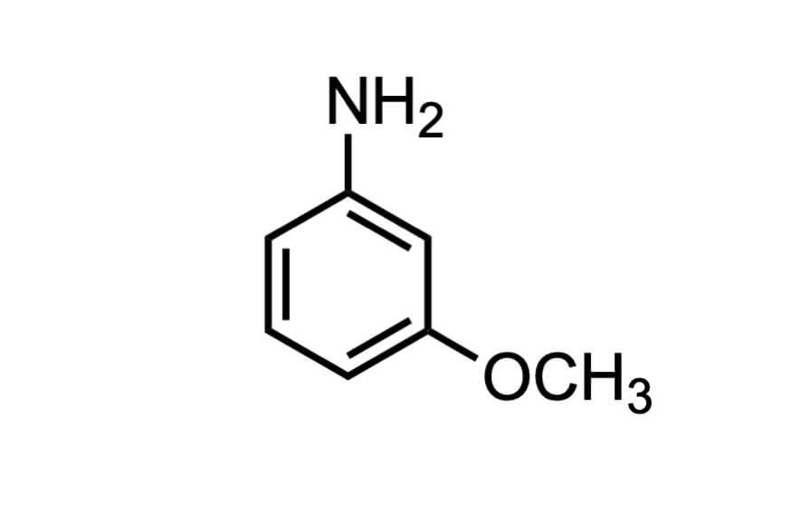 m-アニシジンの構造式