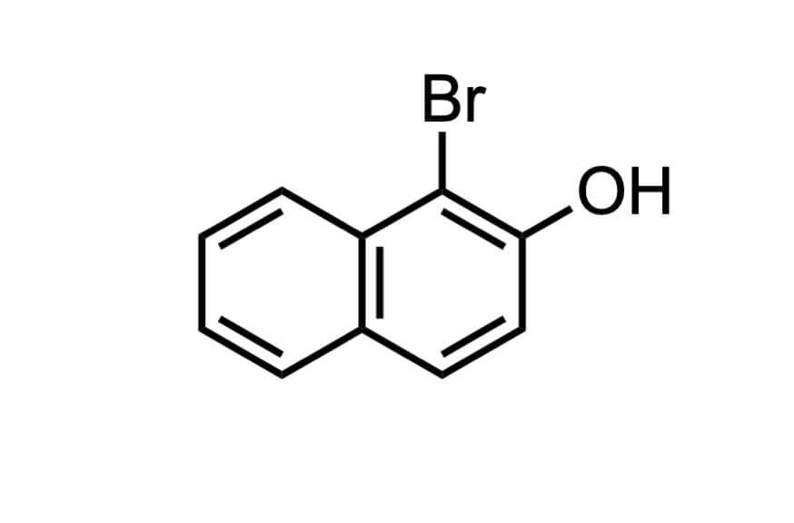 1-ブロモ-2-ナフトールの構造式