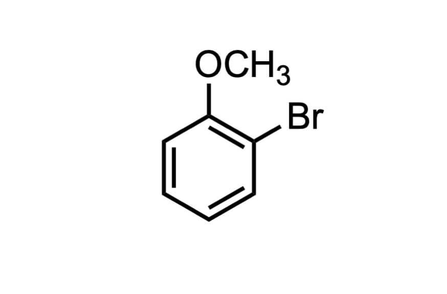 2-ブロモアニソールの構造式