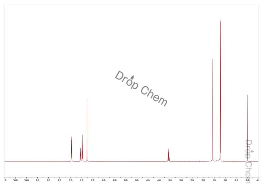 イソブチロフェノンの1HNMRスペクトル