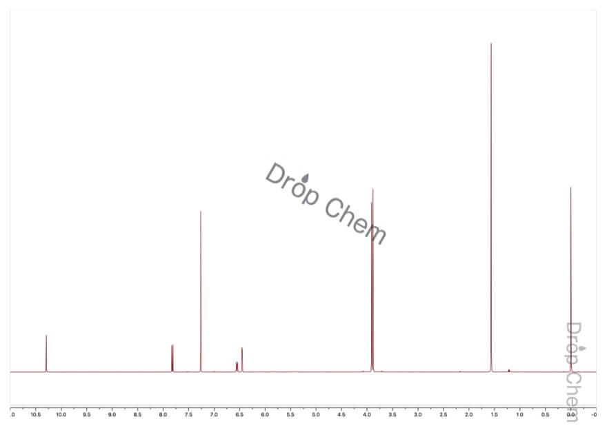 2,4-ジメトキシベンズアルデヒドの1HNMRスペクトル
