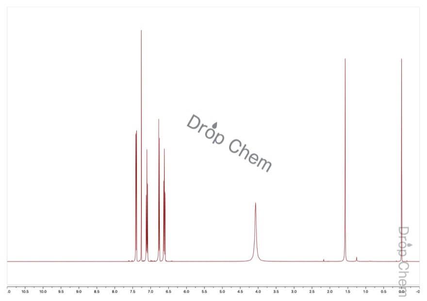 2-ブロモアニリンの1HNMRスペクトル