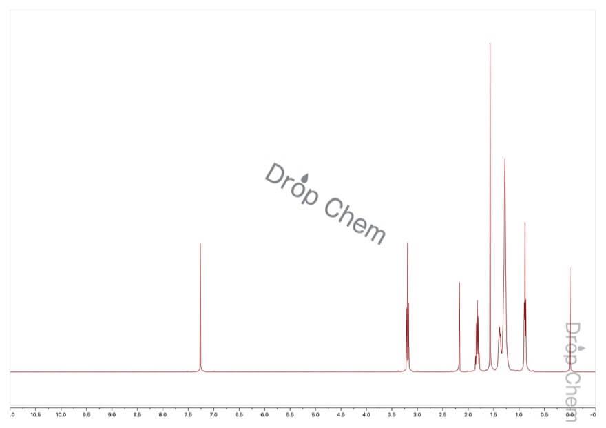 1-ヨードオクタンの1HNMRスペクトル