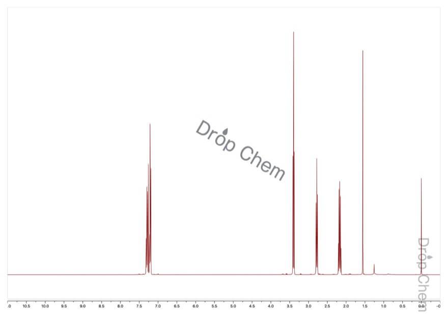 3-フェニルプロピルブロミドの1HNMRスペクトル