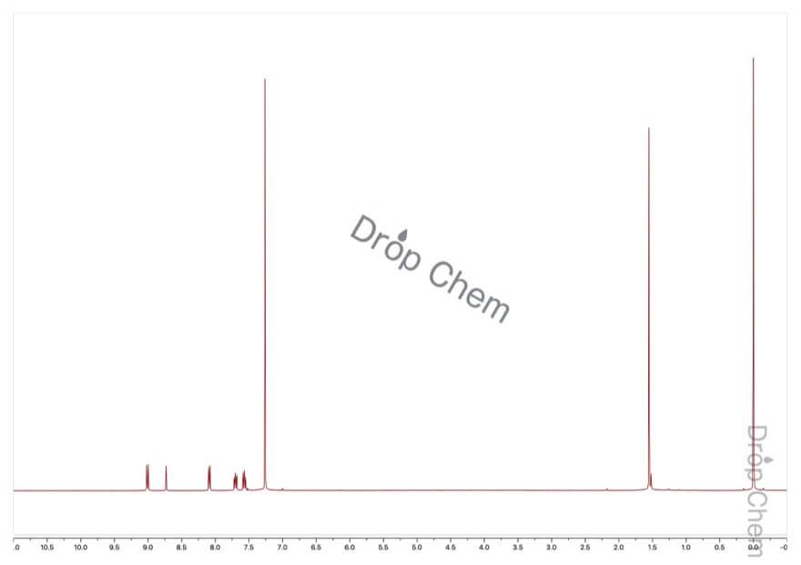 9-アントラセンカルボキシアルデヒドの1HNMRスペクトル