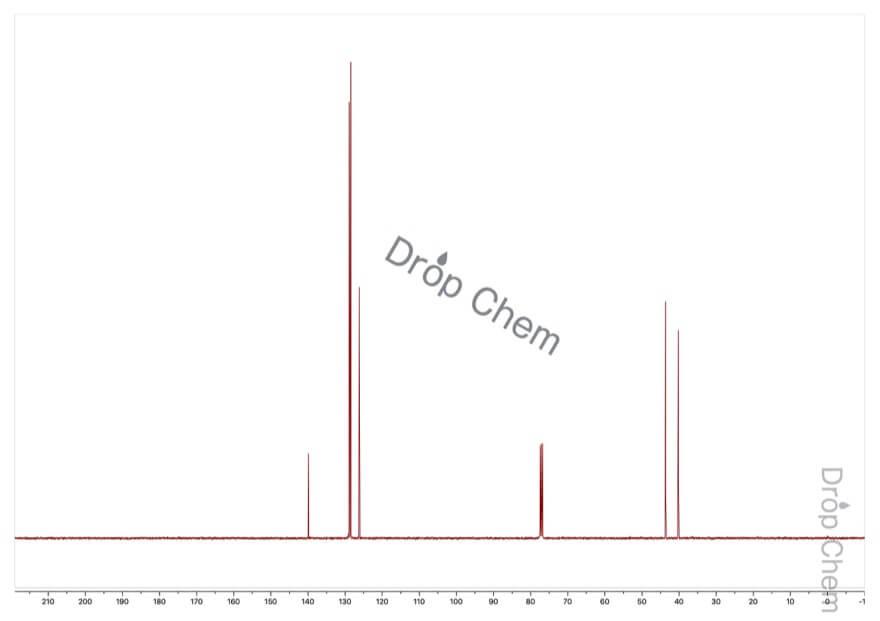 2-フェニルエチルアミンの13CNMRスペクトル