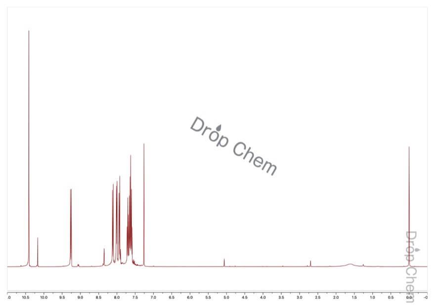 1-ナフトアルデヒドの1HNMRスペクトル