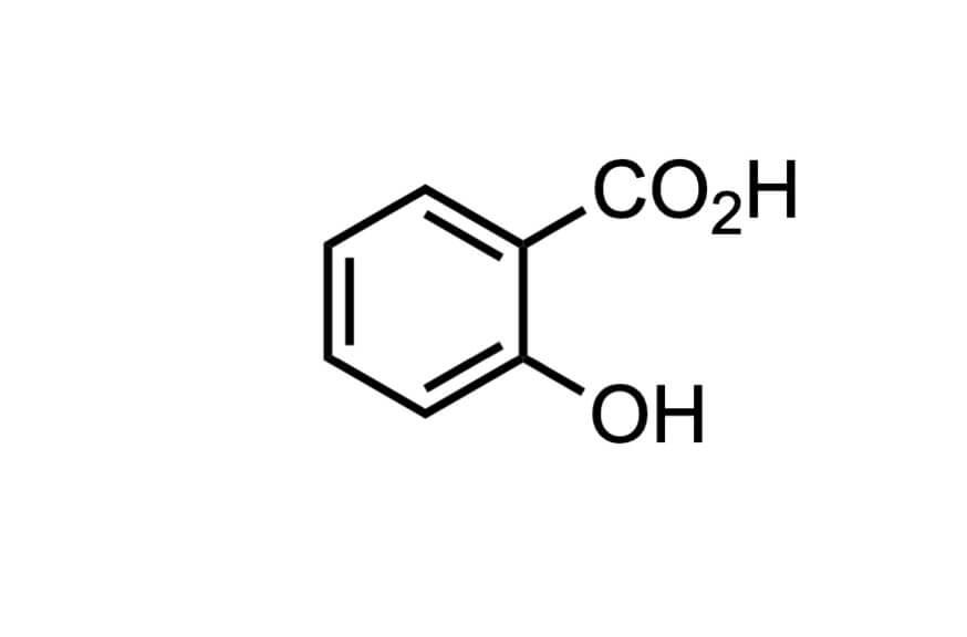サリチル酸の構造式
