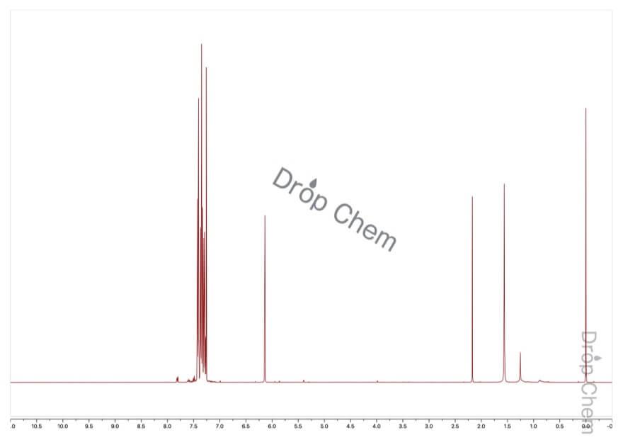 ベンズヒドリルクロリドの1HNMRスペクトル
