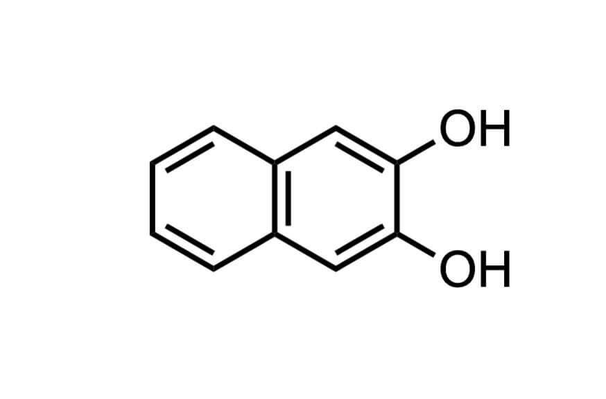 2,3-ジヒドロキシナフタレンの構造式