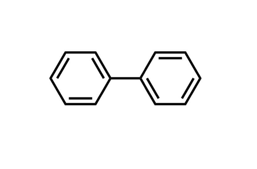 ビフェニルの構造式