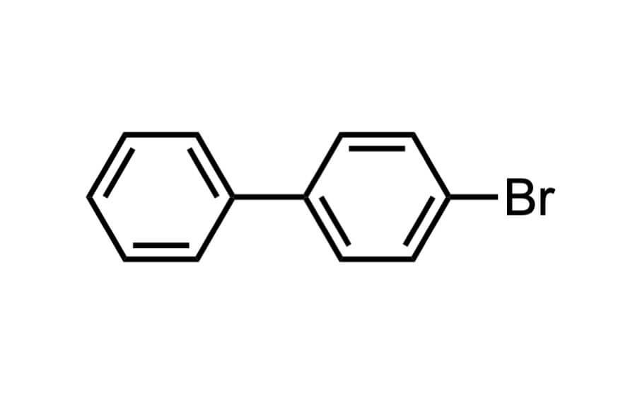 4-ブロモビフェニルの構造式