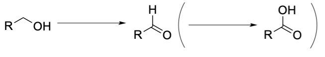 アルコールの酸化でアルデヒドを経由しカルボン酸になる反応