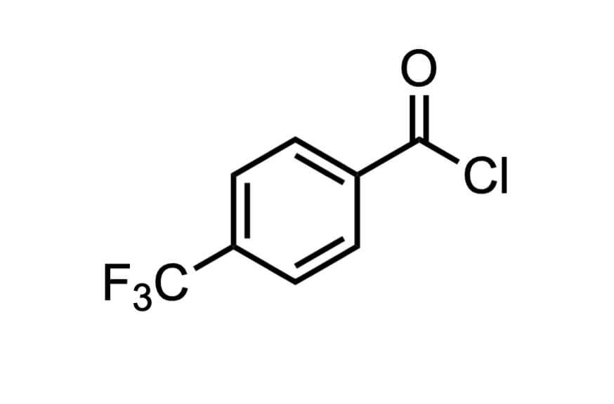 4-(トリフルオロメチル)ベンゾイルクロリドの構造式