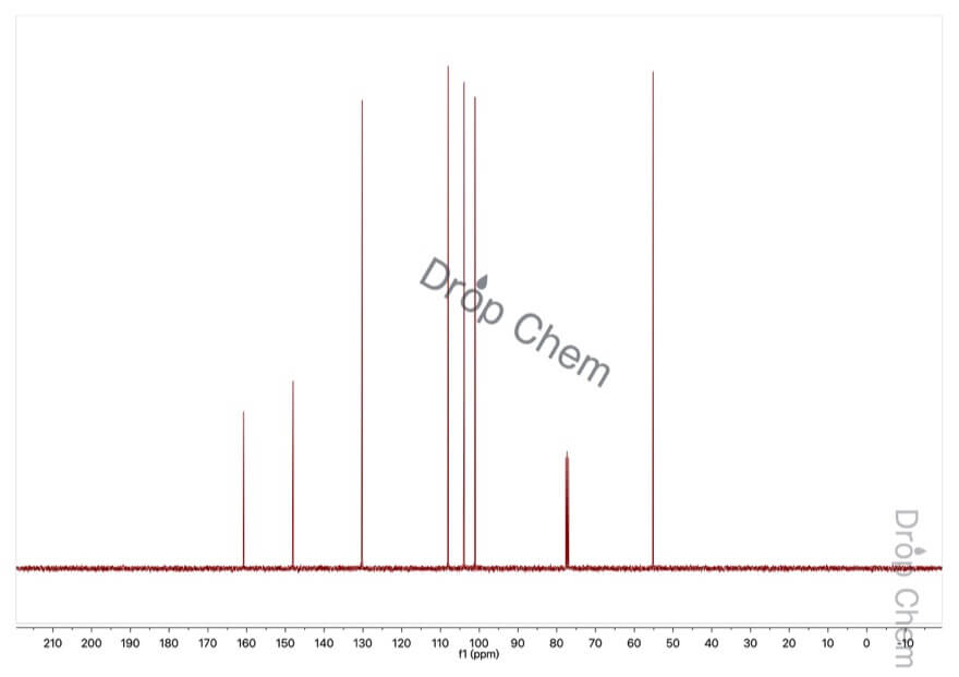 m-アニシジンの13CNMRスペクトル