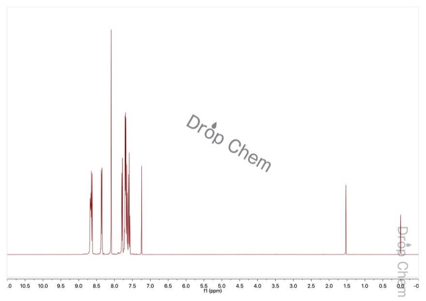 9-ブロモフェナントレンの1HNMRスペクトル