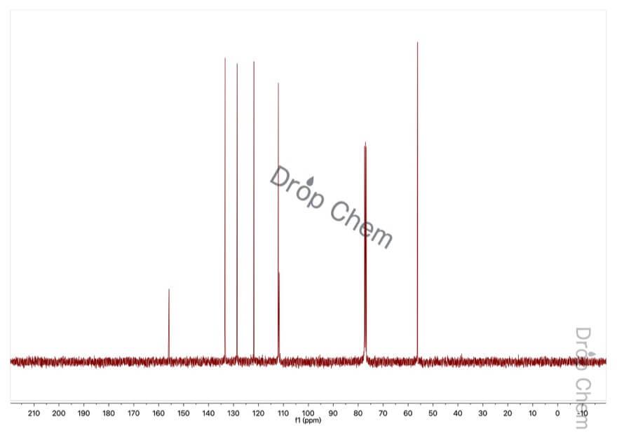2-ブロモアニソールの13CNMRスペクトル