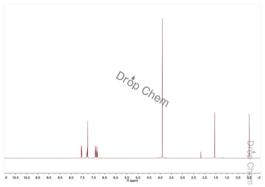 2-ブロモアニソールの1HNMRスペクトル