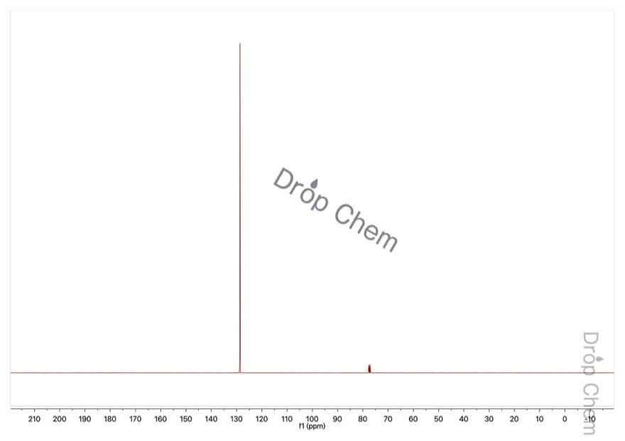 ベンゼンの13CNMRスペクトル