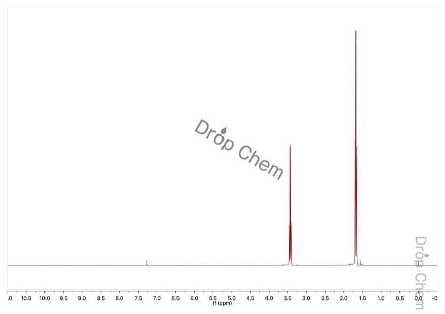 ブロモエタンの1HNMRスペクトル